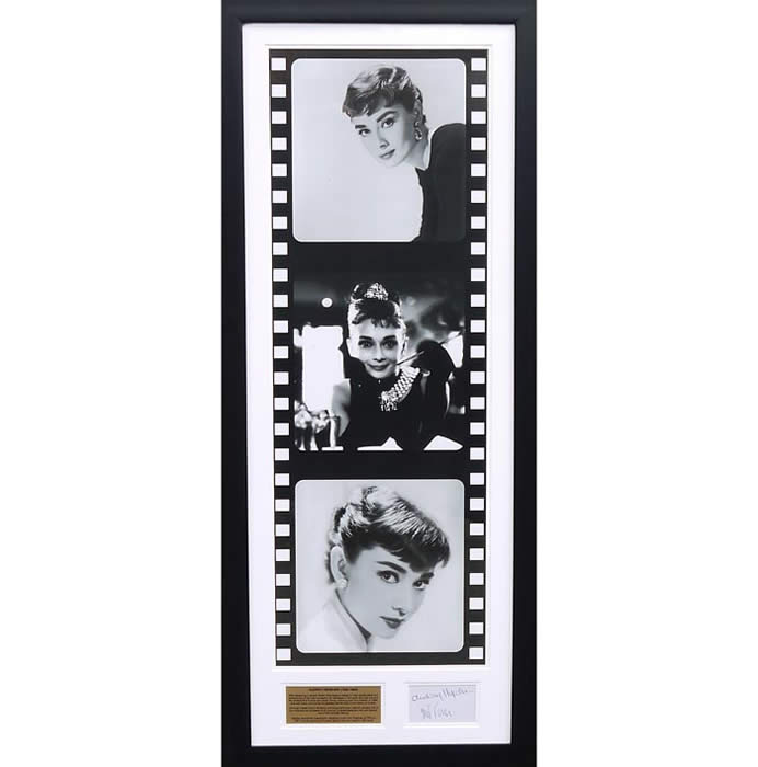 Audrey Hepburn - Signed film-reel tribute presentation