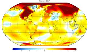 Image result for global temperature anonalies map